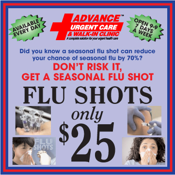 Advance Urgent Care Flu Shots Special Offer