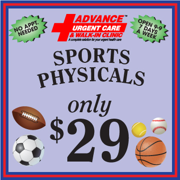 Advance Urgent Care Sports Physicals Special Offer